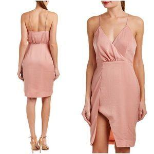 Stylestalker Rose Quartz Asymmetrical Draped Dress